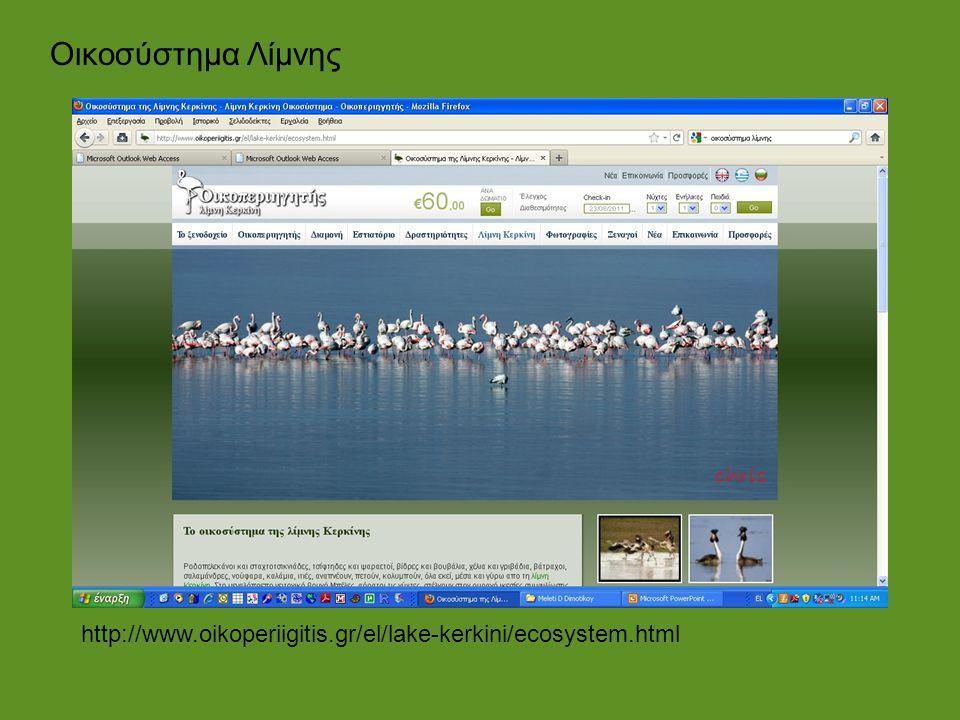 Οικοσύστημα Λίμνης http://www.oikoperiigitis.gr/el/lake-kerkini/ecosystem.html