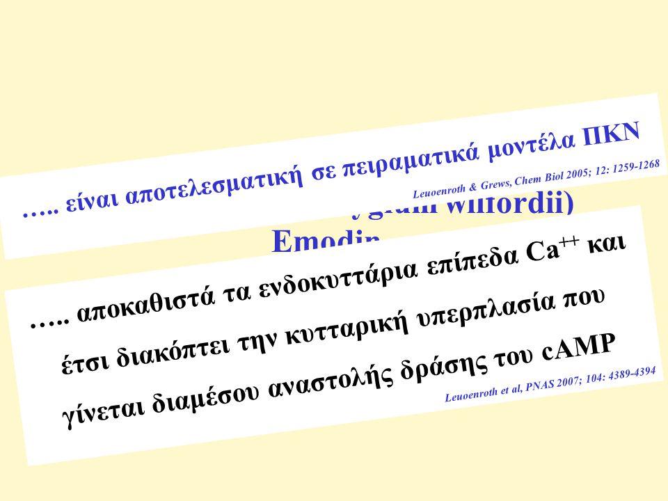 Τριπτολίδη (tripterygium wilfordii) Emodin …..