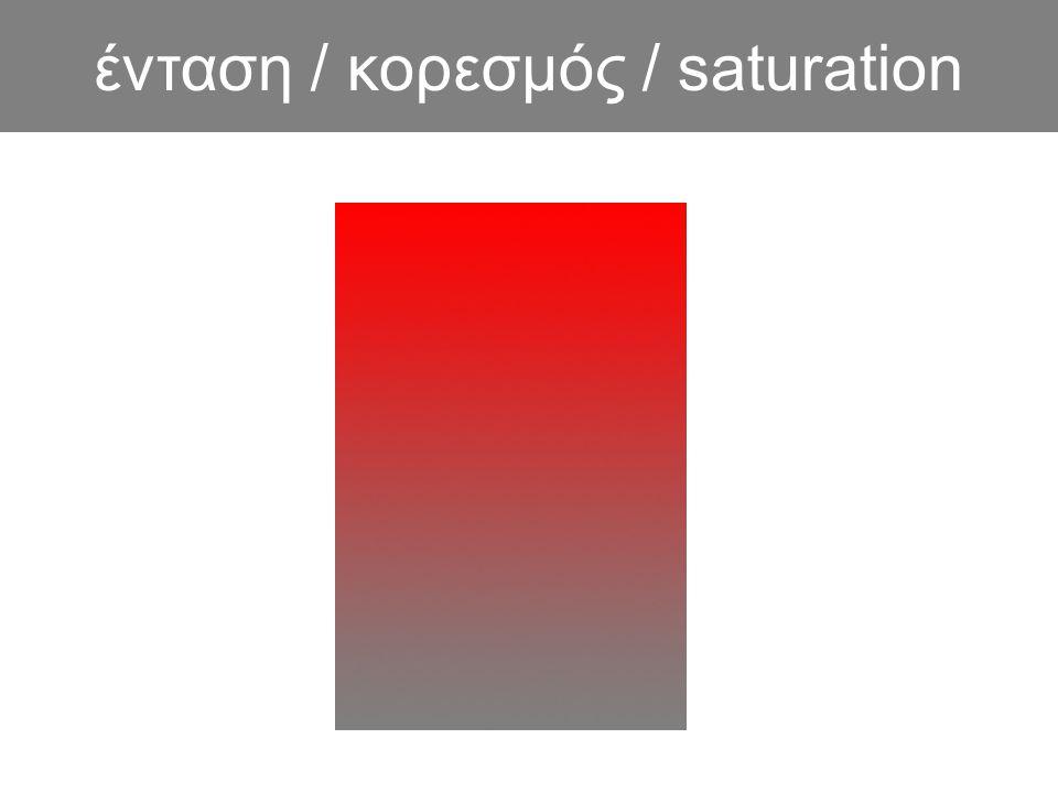 ένταση / κορεσμός / saturation