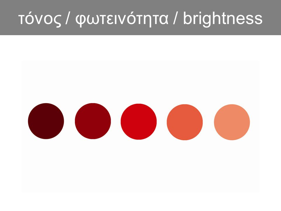 τόνος / φωτεινότητα / brightness