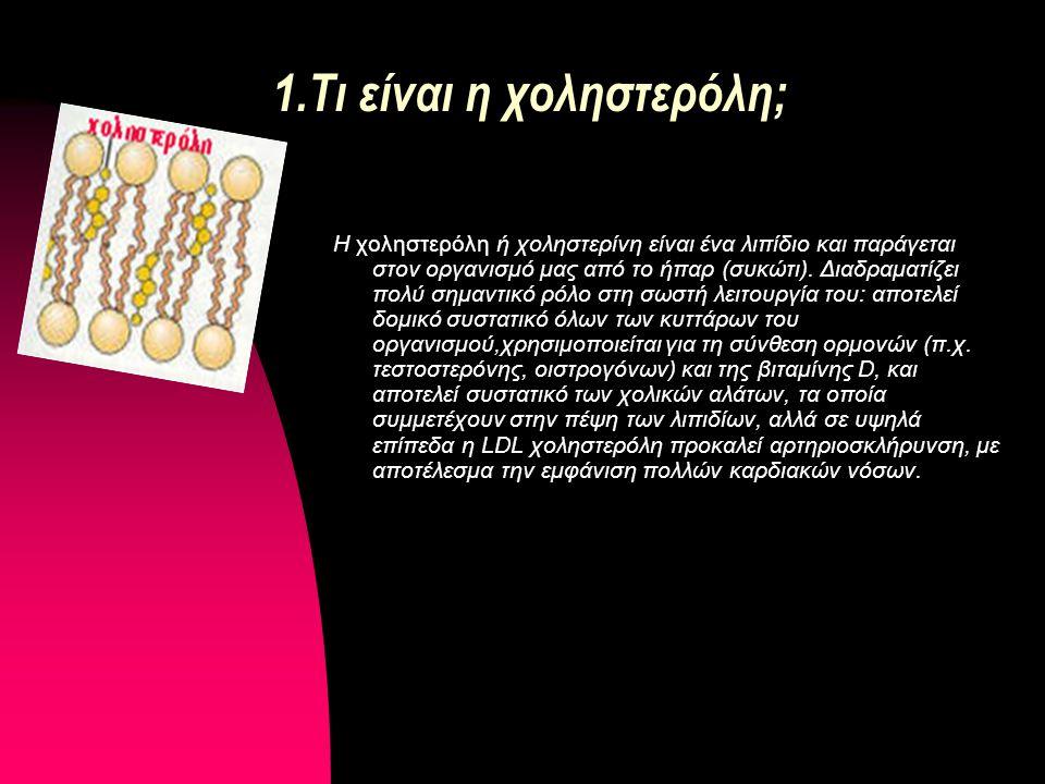 iv.Υπερλιπιδαιμία Υπερλιπιδαιμία: ονομάζεται η κατάσταση κατά την οποία τα λιπίδια του αίματος (με πιο γνωστά τη χοληστερίνη και τα τριγλυκερίδια) κυκλοφορούν σε αυξημένα επίπεδα.