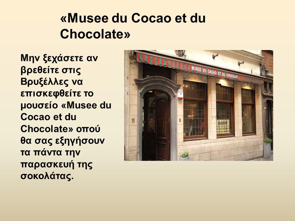 Μην ξεχάσετε αν βρεθείτε στις Βρυξέλλες να επισκεφθείτε το μουσείο «Musee du Cocao et du Chocolate» οπού θα σας εξηγήσουν τα πάντα την παρασκευή της σ