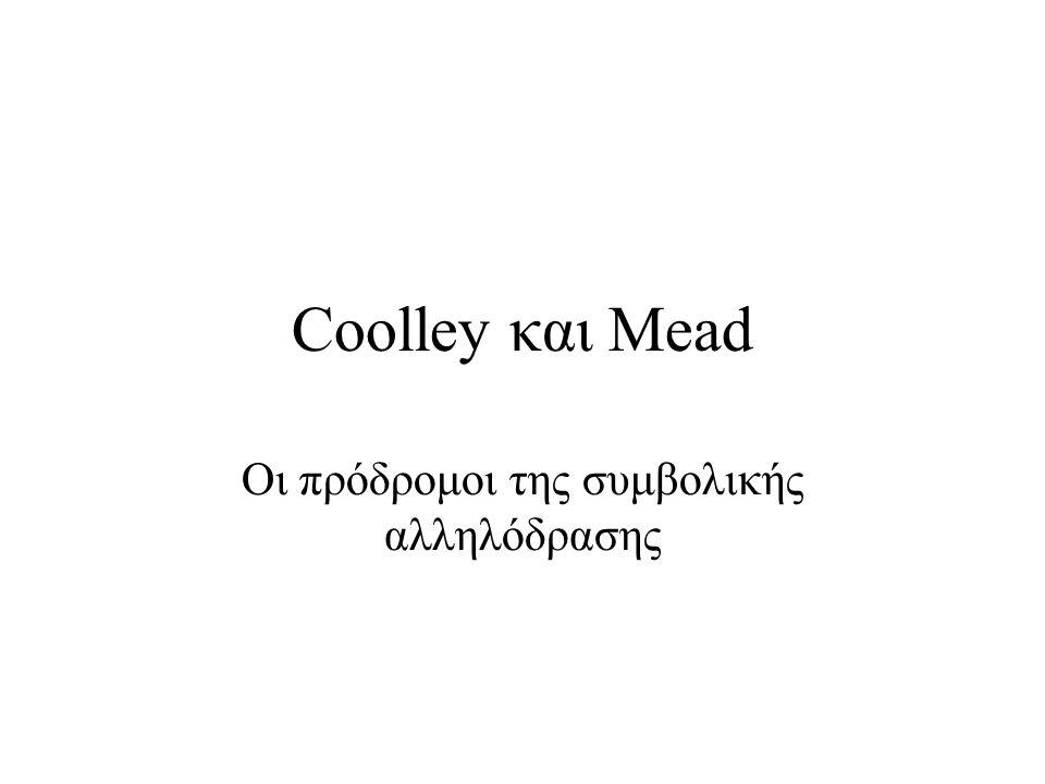Coolley και Mead Οι πρόδρομοι της συμβολικής αλληλόδρασης