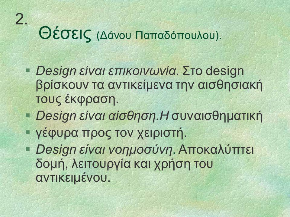 Θέσεις (Δάνου Παπαδόπουλου).§Design είναι επικοινωνία.