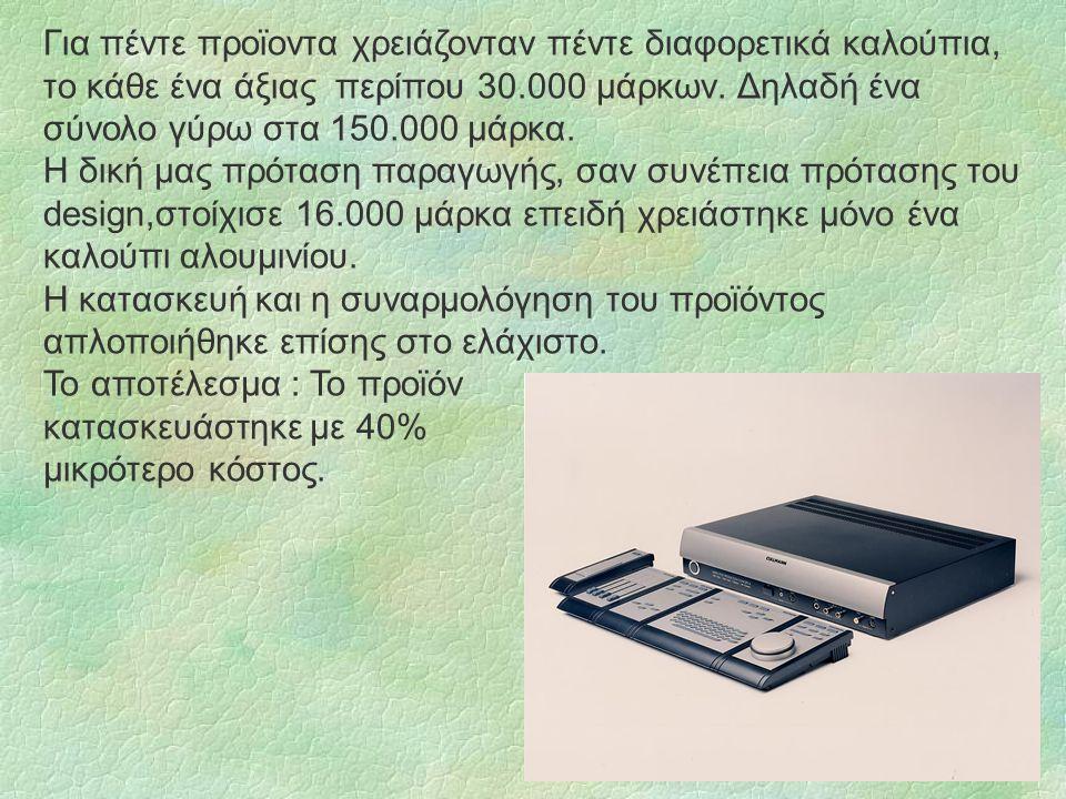 Για πέντε προϊοντα χρειάζονταν πέντε διαφορετικά καλούπια, το κάθε ένα άξιας περίπου 30.000 μάρκων.