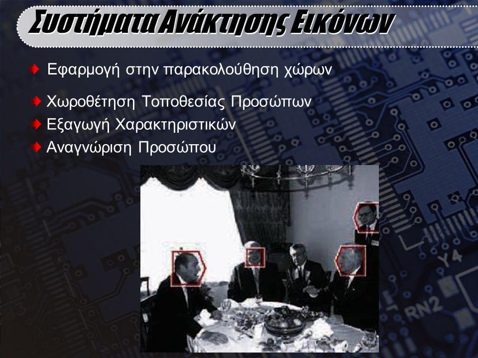 Χωροθέτηση Τοποθεσίας Προσώπων Εξαγωγή Χαρακτηριστικών Αναγνώριση Προσώπου Συστήματα Ανάκτησης Εικόνων Εφαρμογή στην παρακολούθηση χώρων