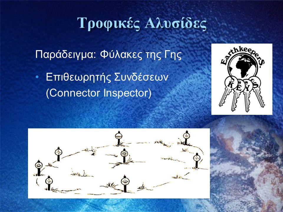 Τροφικές Αλυσίδες Παράδειγμα: Φύλακες της Γης •Επιθεωρητής Συνδέσεων (Connector Inspector)