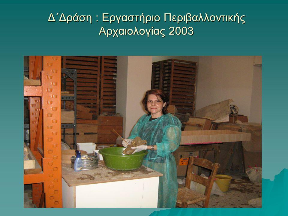 Δ΄Δράση : Εργαστήριο Περιβαλλοντικής Αρχαιολογίας 2003