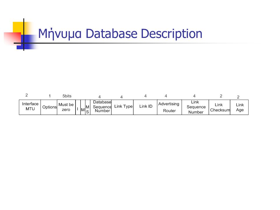 Μήνυμα Database Description
