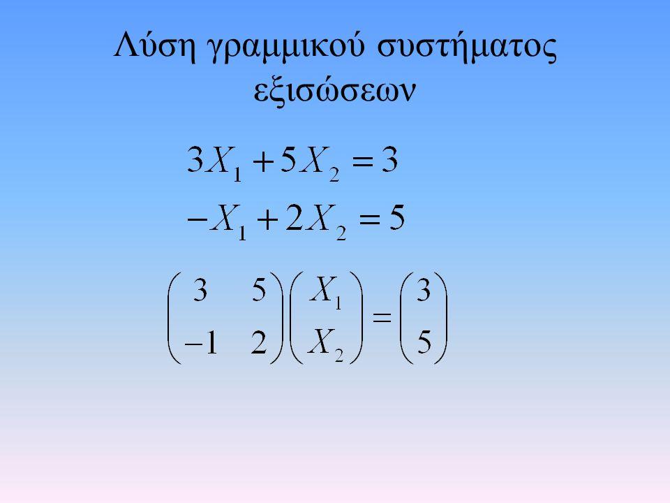 Αχ=κ Α -1 Αχ=Α -1 κ Ιχ=Α -1 κ χ=Α -1 κ