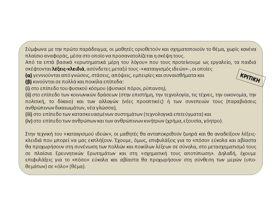Β 3 «Η ΚΙΝΗΤΗ ΤΗΕΛΕΦΩΝΙΑ ΣΤΙΣ ΔΙΑΠΡΟΣΩΠΙΚΕΣ ΚΑΙ ΚΟΙΝΩΝΙΚΕΣ ΣΧΕΣΕΙΣ» Δραστηριότητα Β 3 στην Τάξη, στο Πεδίο, στους Η/Υ (ομάδες - κείμενο, διαφάνειες - ολομέλεια) Έρευνα, «μη λεκτική επικοινωνία, πίνακες, γραφήματα, κείμενο, «κοινωνικά δίκτυα, κοινωνικο-πολιτικές αλλαγές Γ Η ΠΟΛΙΤΙΚΗ ΓΥΡΩ ΑΠΟ ΤΗΝ ΚΙΝΗΤΗ ΤΗΛΕΦΩΝΙΑ Δραστηριότητα Γ 1 στην Τάξη, στο Πεδίο, στους Η/Υ (ομάδες - κείμενο, διαφάνειες - ολομέλεια) Έρευνα, Πίνακες, Γραφήματα, Αφίσα, Εκδήλωση (ομάδες - κείμενο, χαρτόνια - ολομέλεια) Γ 1 «ΟΙ ΣΠΑΝΙΕΣ ΓΑΙΕΣ ΚΑΙ ΤΑ ΟΡΥΧΕΙΑ ΤΩΝ ΠΟΛΕΩΝ» Γ 2 «Η ΚΙΝΗΤΗ ΤΗΛΕΦΩΝΙΑ ΚΑΙ Ο ΠΟΛΙΤΗΣ- ΚΑΤΑΝΑΛΩΤΗΣ» Δραστηριότητα Γ 2 στην Τάξη, στο Πεδίο, στους Η/Υ (συνέχεια) (ομάδες - κείμενο, διαφάνειες - ολομέλεια) Έρευνα, Πίνακες, Γραφήματα 5ο5ο5ο5ο 6ο6ο6ο6ο 7ο7ο7ο7ο