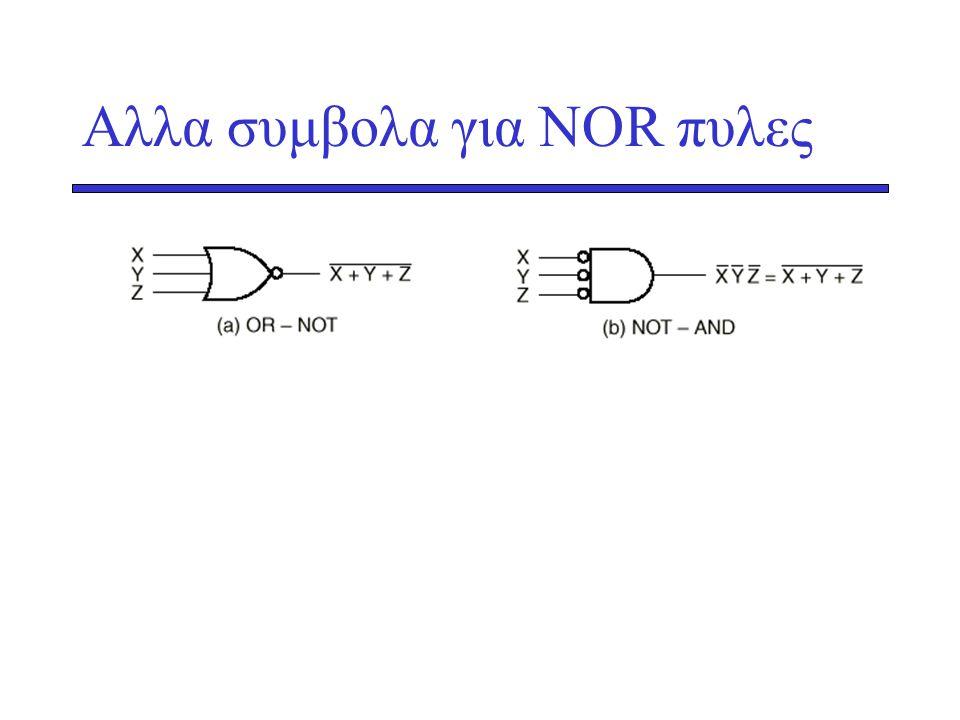 Αλλα συμβολα για NΟR πυλες