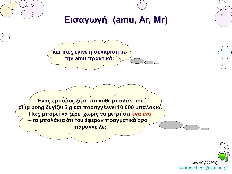 Κων/νος Θέος, kostasctheos@yahoo.gr kostasctheos@yahoo.gr Εισαγωγή (amu, Ar, Mr) και πως έγινε η σύγκριση με την amu πρακτικά; Ένας έμπορος ξέρει ότι