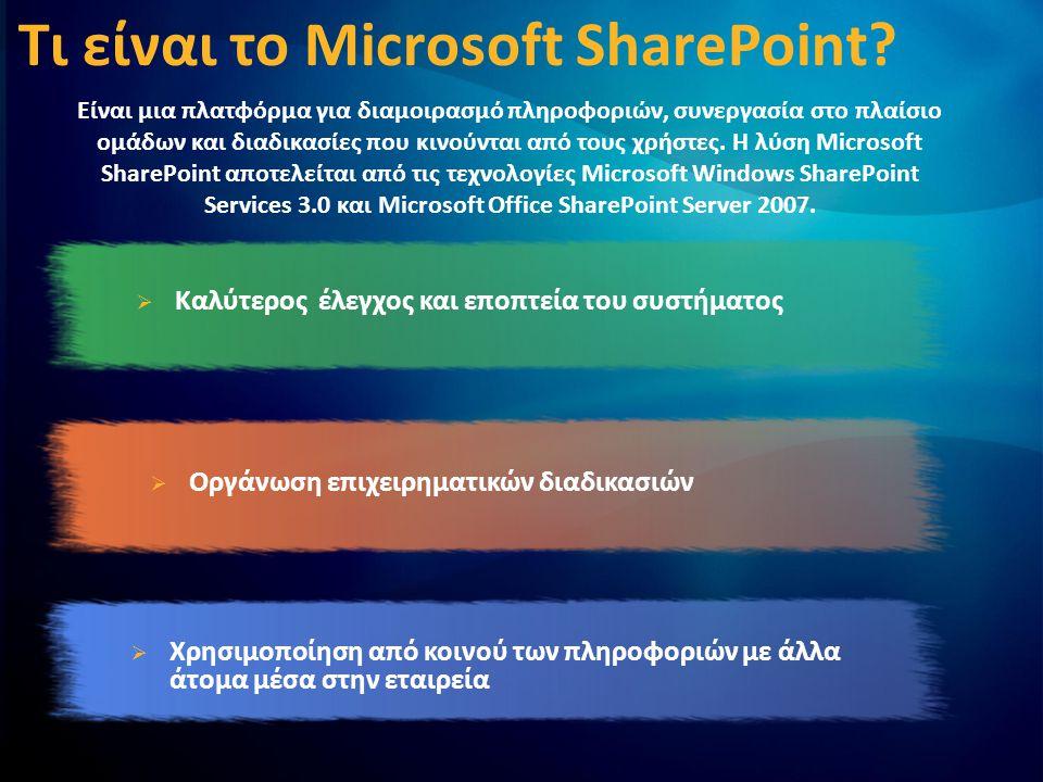 Αρχιτεκτονική SharePoint Web Application Βασική δομή για SharePoint site collections.