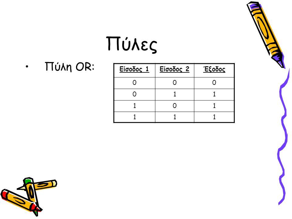 Λογική Ελέγχου •Τμήμα του υπολογιστή υπεύθυνο για τη μεταφορά από τμήμα σε τμήμα των σωστών δεδομένων την κατάλληλη στιγμή και για την επιβεβαίωση ότι εκτελούνται οι σωστές πράξεις πάνω στα δεδομένα •Ρολόι: Τμήμα της λογικής ελέγχου που παράγει σήματα σε κανονικό ρυθμό •Τα σήματα που παράγει το ρολόι χρησιμοποιούνται από τη λογική ελέγχου για την επιβεβαίωση συγχρονισμού των τμημάτων μεταξύ τους