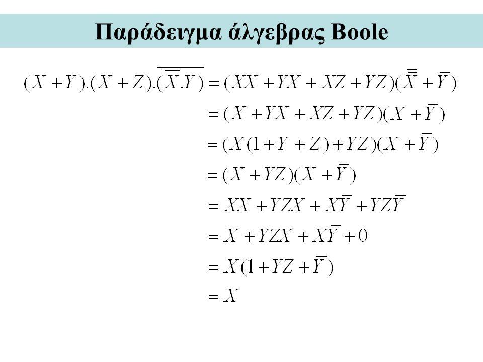 Παράδειγμα άλγεβρας Boole