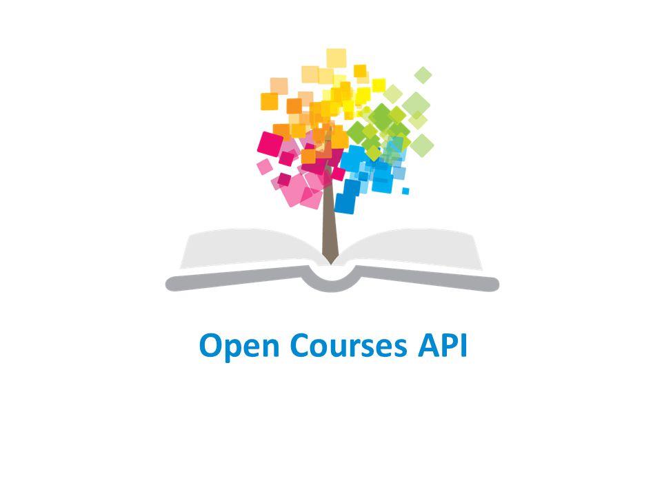 Open Courses API