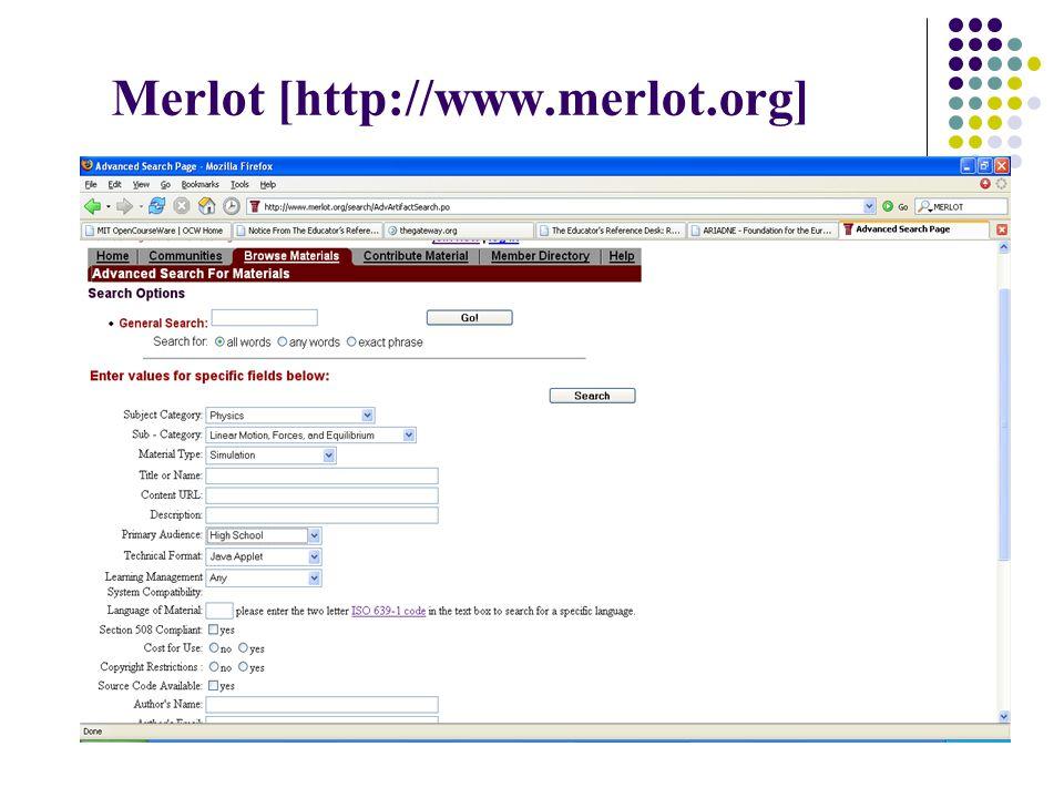 Merlot [http://www.merlot.org]