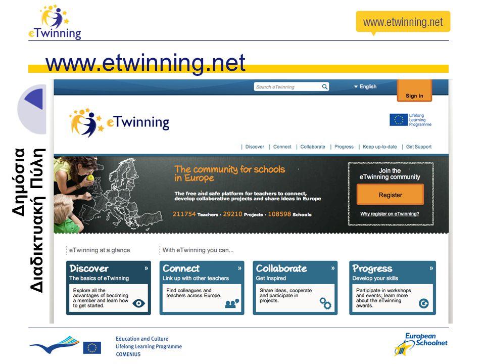 www.etwinning.net Δημόσια Διαδικτυακή Πύλη