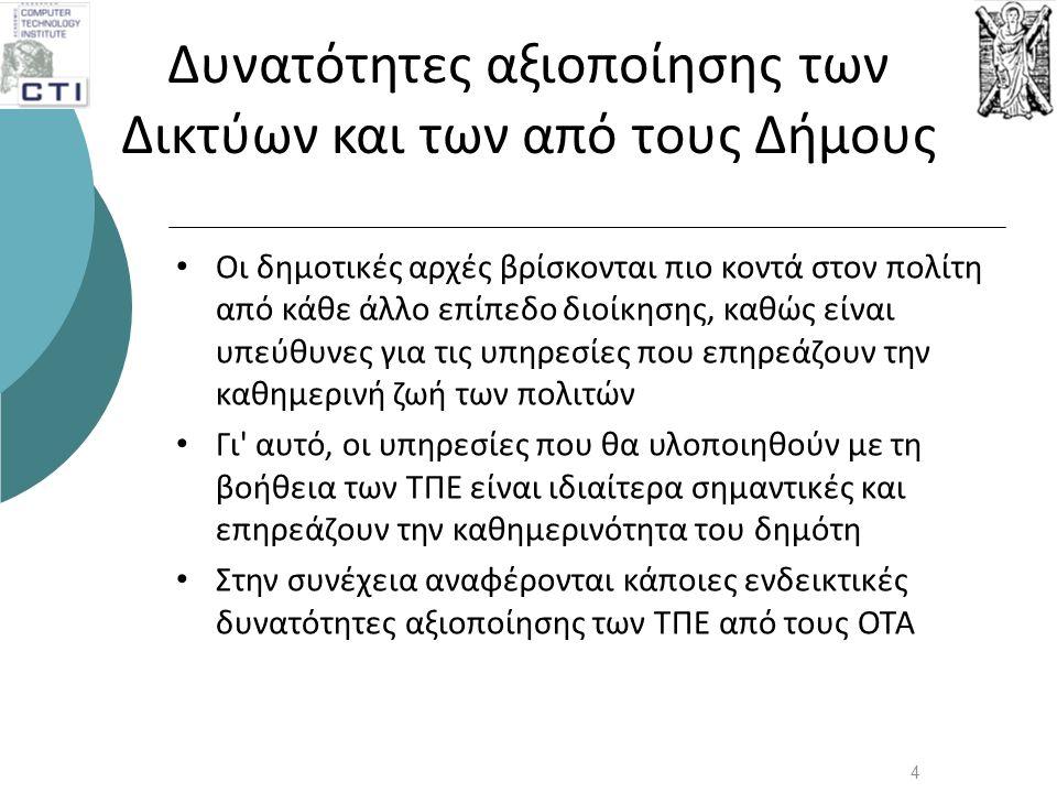 Ευρυζωνικές Υπηρεσίες: Μητροπολιτικός Δήμος 25