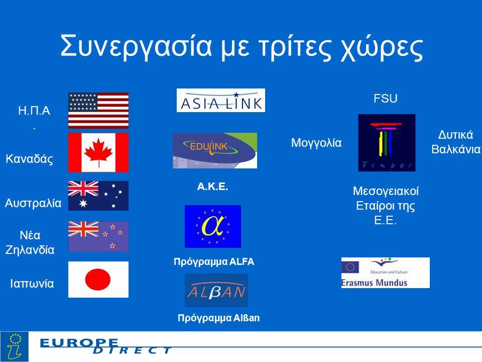 Συνεργασία με τρίτες χώρες Η.Π.Α.