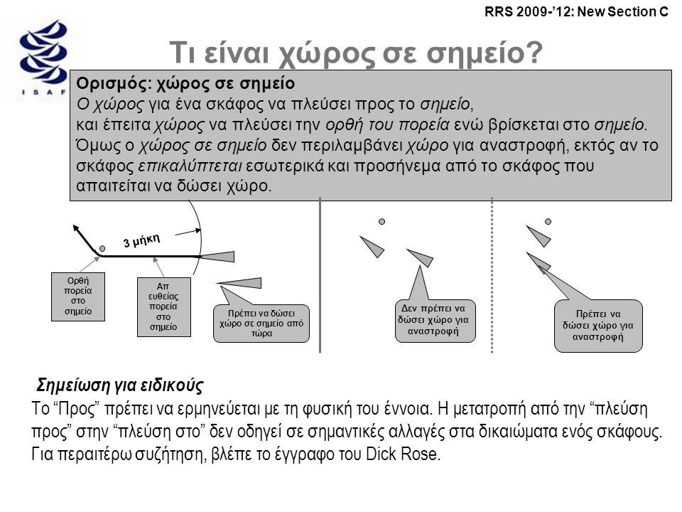 RRS 2009-'12: New Section C Τι είναι χώρος σε σημείο.