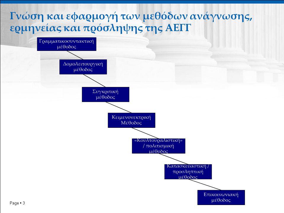 Page  3 Γνώση και εφαρμογή των μεθόδων ανάγνωσης, ερμηνείας και πρόσληψης της ΑΕΓΓ