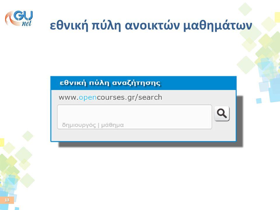 13 εθνική πύλη ανοικτών μαθημάτων
