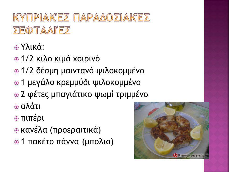  Υλικά:  1/2 κιλο κιμά χοιρινό  1/2 δέσμη μαιντανό ψιλοκομμένο  1 μεγάλο κρεμμύδι ψιλοκομμένο  2 φέτες μπαγιάτικο ψωμί τριμμένο  αλάτι  πιπέρι  κανέλα (προεραιτικά)  1 πακέτο πάννα (μπολια)