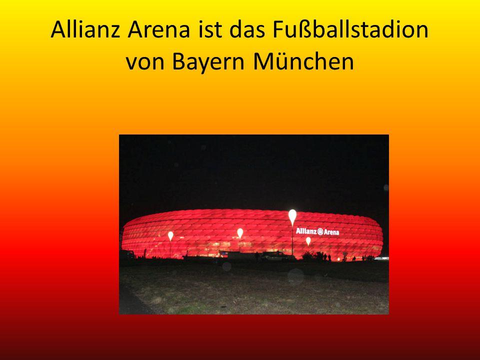 Allianz Arena ist das Fußballstadion von Bayern München