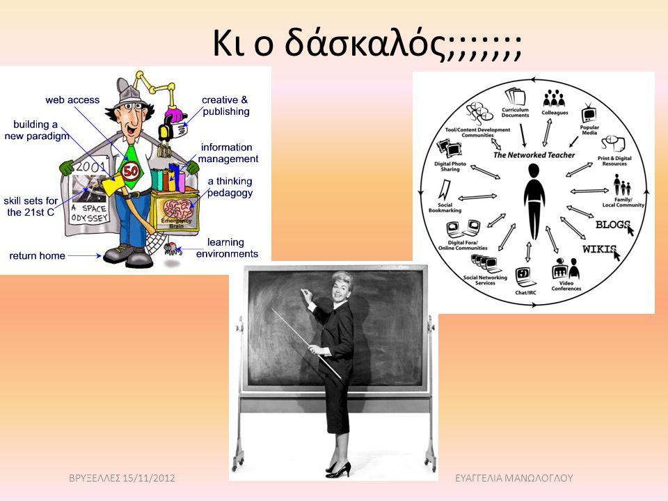 Κι ο δάσκαλός;;;;;;; ΒΡΥΞΕΛΛΕΣ 15/11/2012 ΕΥΑΓΓΕΛΙΑ ΜΑΝΩΛΟΓΛΟΥ
