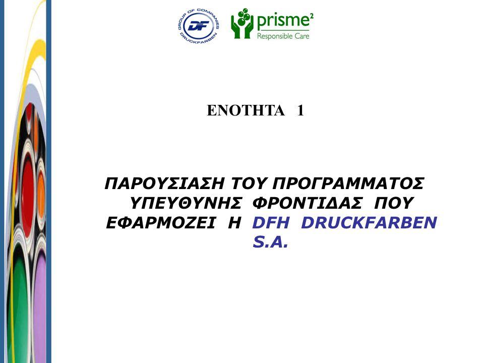 Προγράμματα Υπεύθυνης Φροντίδας 1.Ορθολογικότερης Διαχείρισης Μη Επικίνδυνων Στερεών Αποβλήτων 2.