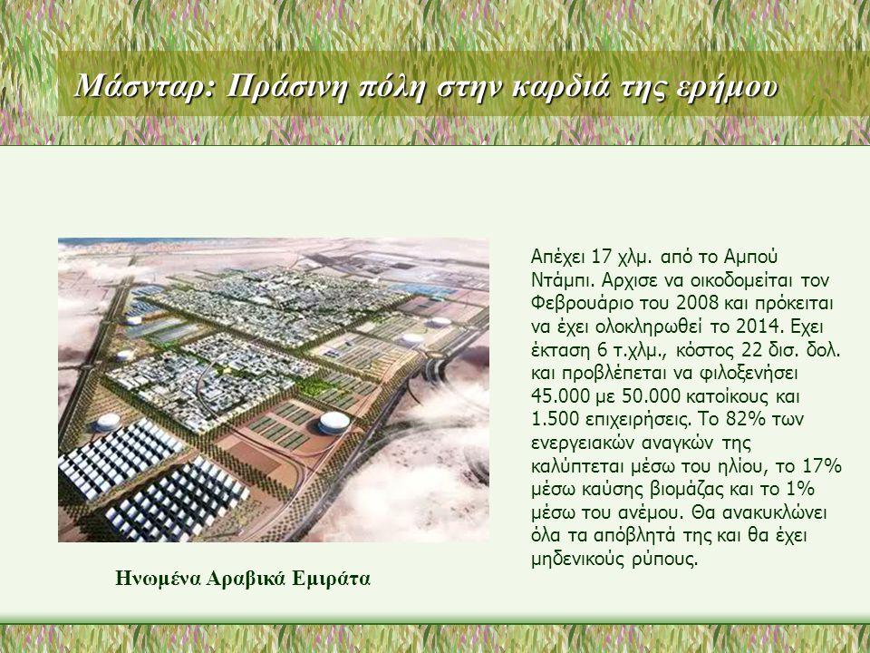 Μάσνταρ: Πράσινη πόλη στην καρδιά της ερήμου Απέχει 17 χλμ.