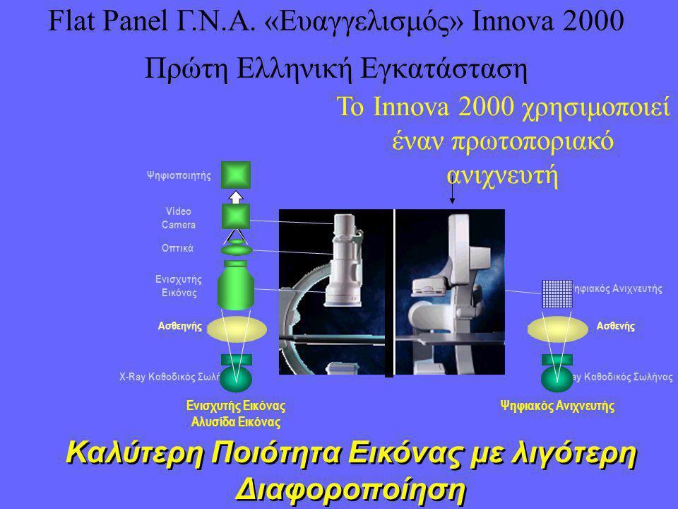 Flat Panel Γ.Ν.Α. «Ευαγγελισμός» Innova 2000 Πρώτη Ελληνική Εγκατάσταση X-Ray Καθοδικός Σωλήνας Ασθενής Ψηφιακός Ανιχνευτής Ενισχυτής Εικόνας Αλυσίδα