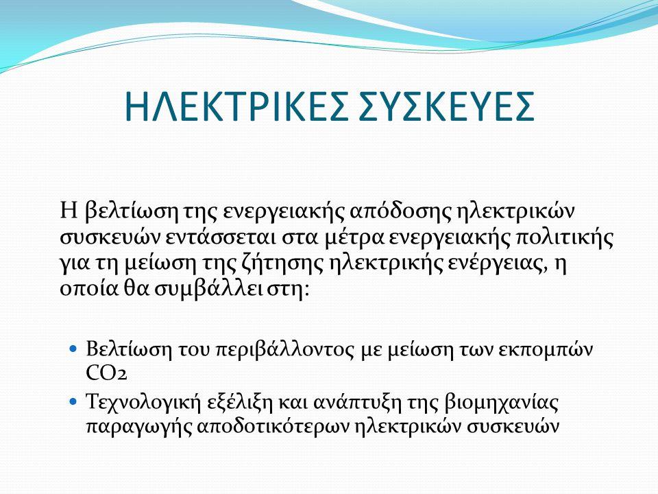 Η βελτίωση της ενεργειακής απόδοσης ηλεκτρικών συσκευών εντάσσεται στα μέτρα ενεργειακής πολιτικής για τη μείωση της ζήτησης ηλεκτρικής ενέργειας, η ο
