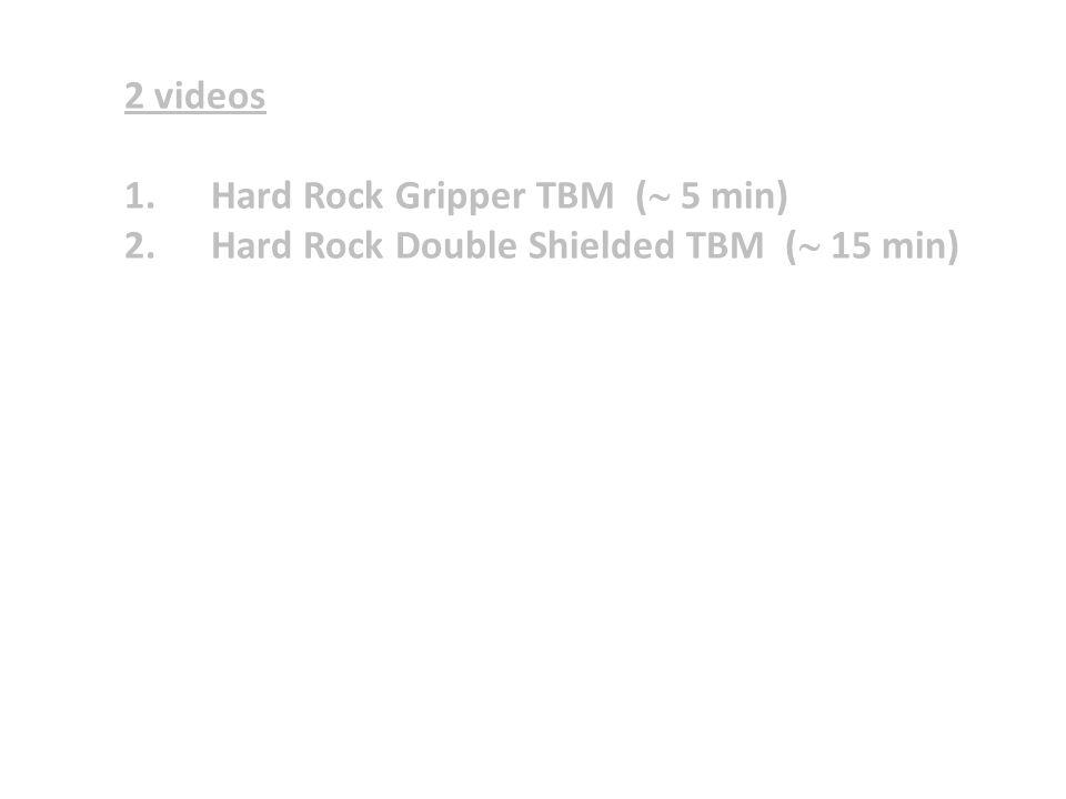 2 videos 1.Hard Rock Gripper TBM (  5 min) 2.Hard Rock Double Shielded TBM (  15 min)