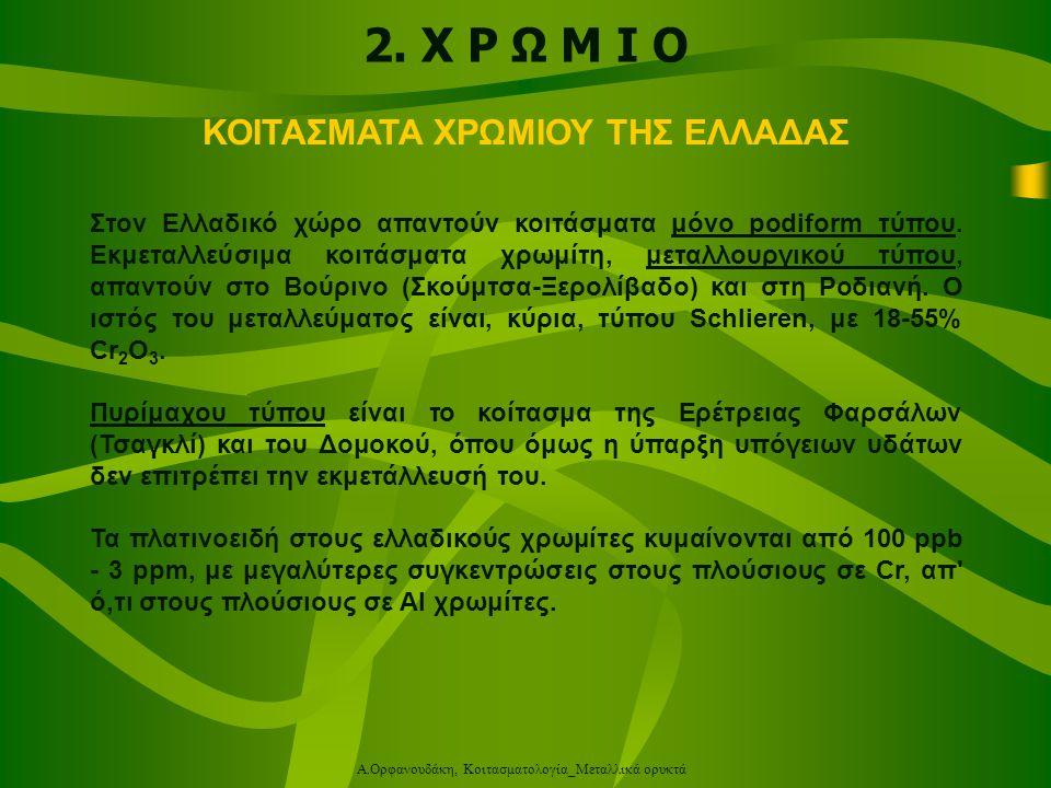 Α.Ορφανουδάκη, Κοιτασματολογία_Μεταλλικά ορυκτά 3.