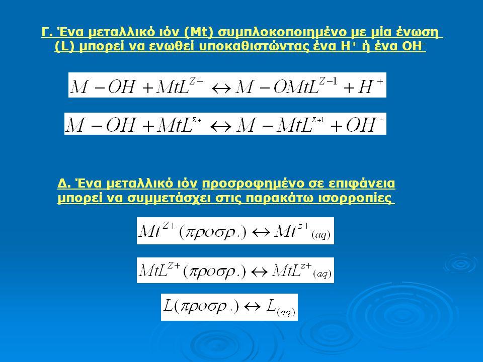 Προσρόφηση χημικών ουσιών σε στερεά: Μοντέλα προσρόφησης Οι επιφάνειες στερεών που διαιρούνται σε πολύ μικρά σωματίδια έχουν μια περίσσεια επιφανειακή