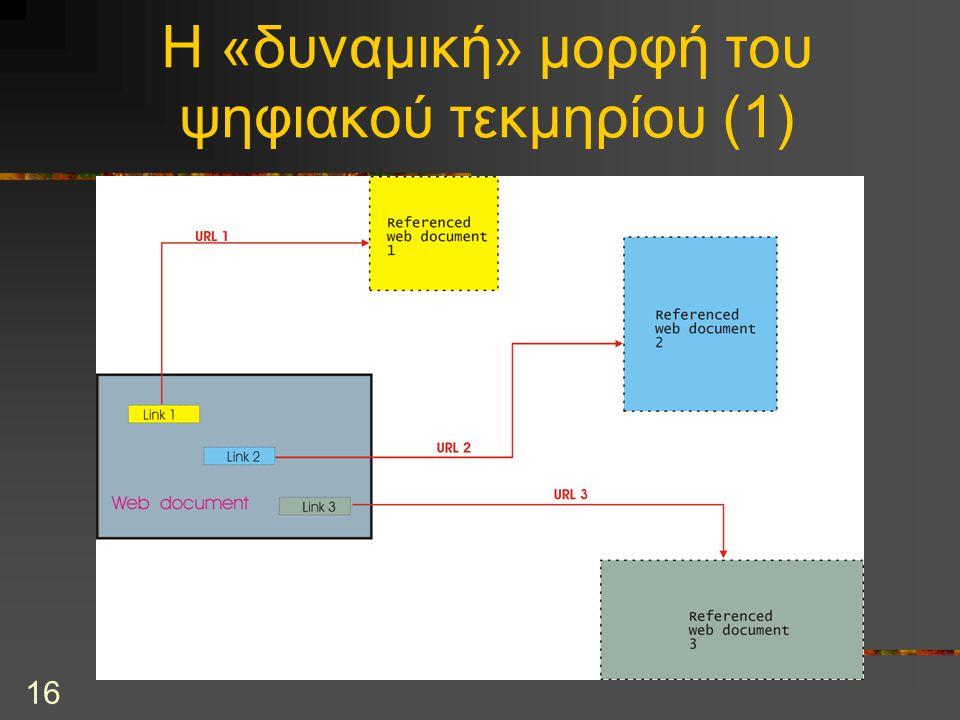 16 Η «δυναμική» μορφή του ψηφιακού τεκμηρίου (1)