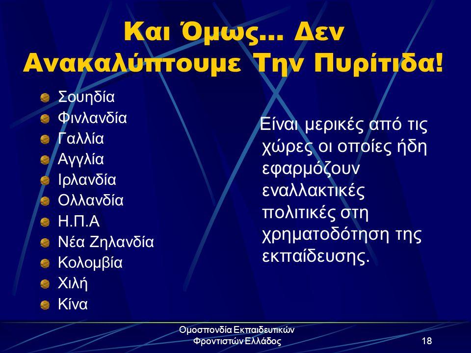 Ομοσπονδία Εκπαιδευτικών Φροντιστών Ελλάδος18 Και Όμως… Δεν Ανακαλύπτουμε Την Πυρίτιδα! Σουηδία Φινλανδία Γαλλία Αγγλία Ιρλανδία Ολλανδία Η.Π.Α Νέα Ζη