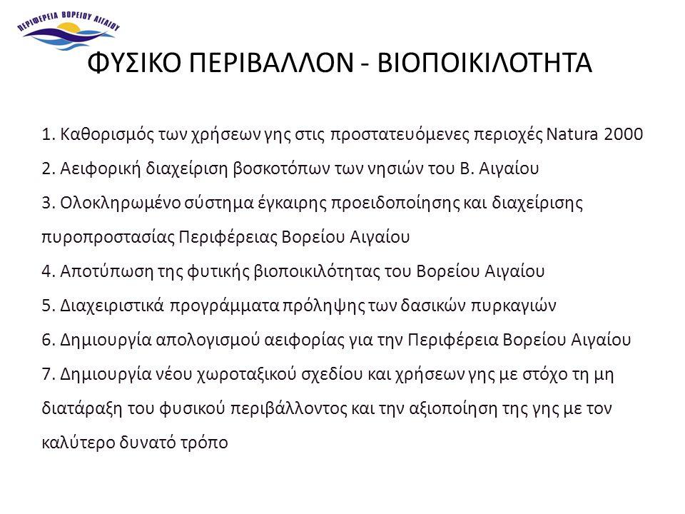 1. Καθορισμός των χρήσεων γης στις προστατευόμενες περιοχές Natura 2000 2.