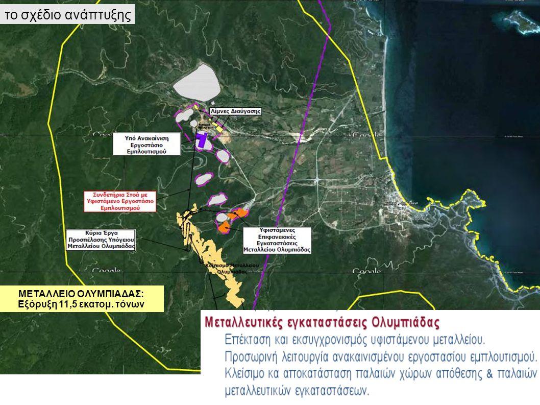 ΜΕΤΑΛΛΕΙΟ ΟΛΥΜΠΙΑΔΑΣ: Εξόρυξη 11,5 εκατομ. τόνων το σχέδιο ανάπτυξης