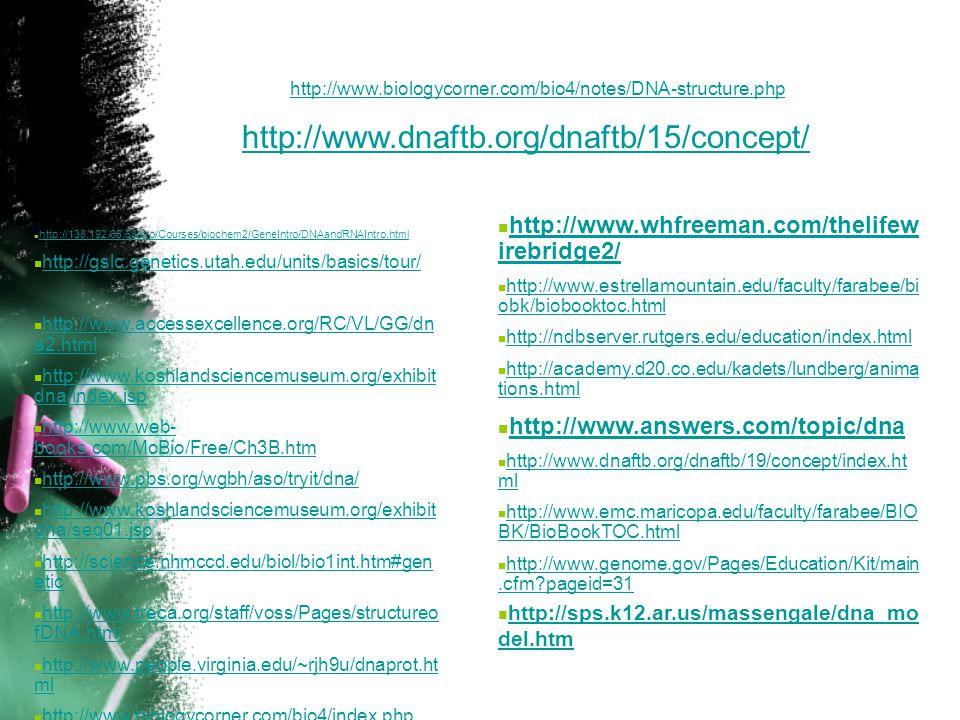  http://138.192.68.68/bio/Courses/biochem2/GeneIntro/DNAandRNAIntro.html http://138.192.68.68/bio/Courses/biochem2/GeneIntro/DNAandRNAIntro.html  ht