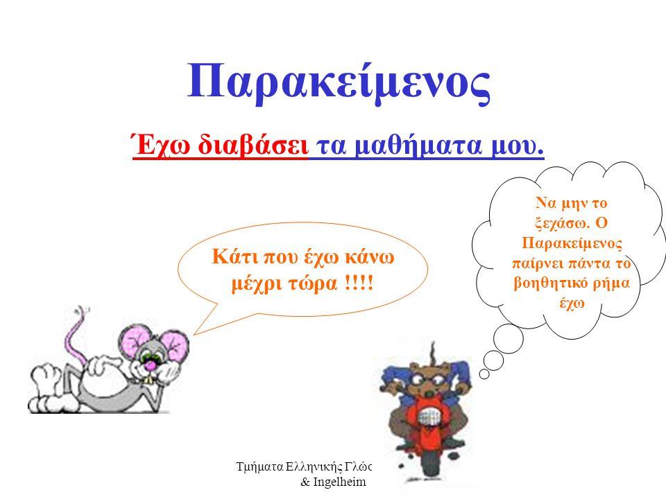 Τμήματα Ελληνικής Γλώσσας Mainz & Ingelheim Mέλλοντας Διαρκείας Αύριο θα τρέχω στην αυλή του σχολείου. Κάτι που θα κάνω αύριο συνέχεια !!!