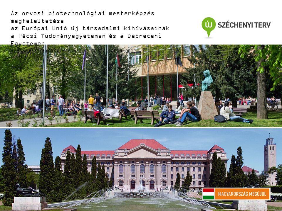 A JELÁTVITEL FARMAKOLÓGIAI BEFOLYÁSOLÁSA Az orvosi biotechnológiai mesterképzés megfeleltetése az Európai Unió új társadalmi kihívásainak a Pécsi Tudományegyetemen és a Debreceni Egyetemen Azonosító szám: TÁMOP-4.1.2-08/1/A-2009-0011 Berki Tímea és Boldizsár Ferenc Jelátvitel