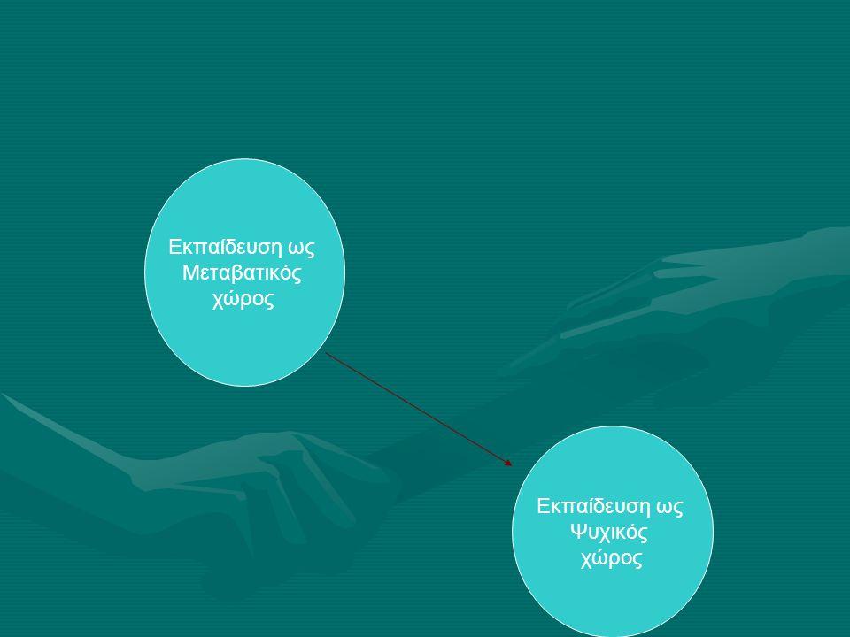 Εκπαίδευσηως Μεταβατικός χώρος Εκπαίδευση ως Μεταβατικός χώρος Εκπαίδευση ως Ψυχικός χώρος