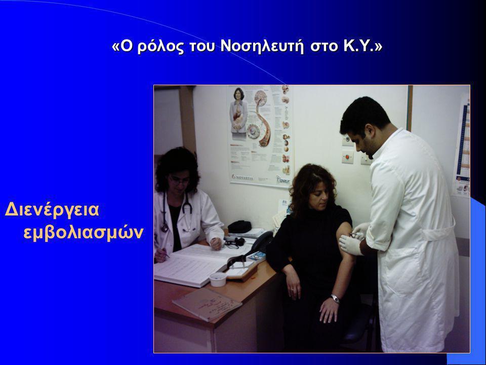15 «Ο ρόλος του Νοσηλευτή στο Κ.Υ.» «Προγράμματα κατ' οίκον νοσηλείας» Παρέμβαση – Νοσηλευτική διεργασία μέσα στο φυσικό περιβάλλον του ασθενή.