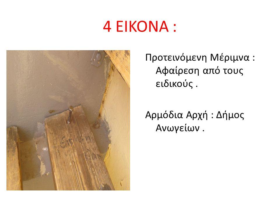 4 EIKONA : Προτεινόμενη Μέριμνα : Αφαίρεση από τους ειδικούς. Αρμόδια Αρχή : Δήμος Ανωγείων.