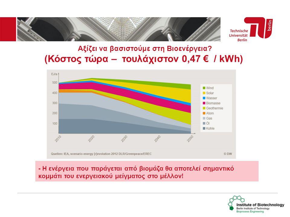 Αξίζει να βασιστούμε στη Βιοενέργεια? (Κόστος τώρα – τουλάχιστον 0,47 € / kWh) - Η ενέργεια που παράγεται από βιομάζα θα αποτελεί σημαντικό κομμάτι το