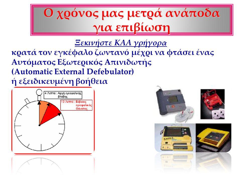 Καρδιοαναπνευστική αναζωογόνηση (KAA) Καρδιοαναπνευστική αναζωογόνηση (KAA): είναι οι ενέργειες που κάνουμε σε μια προσπάθεια για επαναφορά του πάσχον